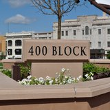 The 400 Block Sign in Downtown Wausau. Image taken on 6/24/2011.