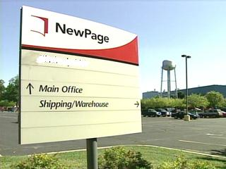 NewPage paper mill sign