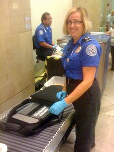 TSA Workers At Airport
