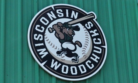 The Wisconsin Woodchucks sign on Athletic Park. Image taken 6/13/2011.