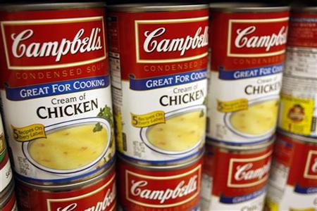 Cream of Chicken Campbell's Condensed Soup is stocked on a shelf at a grocery store in Phoenix