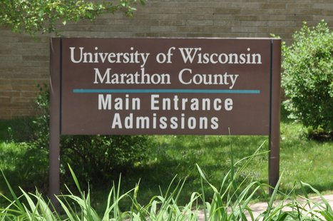 University of Wisconsin - Marathon County Campus main entrance sign in Wausau. Image taken on 6/24/2011
