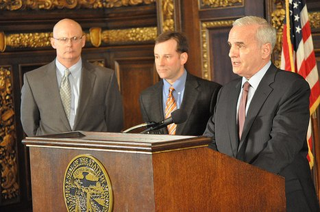 Minnesota Governor Mark Dayton discussing bill.