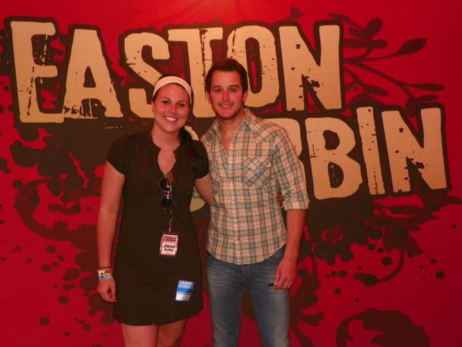 Jess Kelley and Easton Corbin. He was super shy!