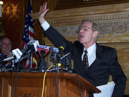 Justice David Prosser at a post-election news conference (Photo: Wisconsin Radio Network)
