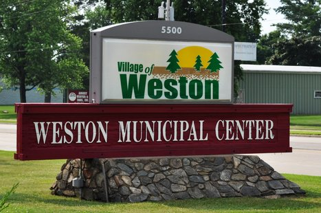 Village of Weston Municipal Center Sign. Image taken 7/1/2011.