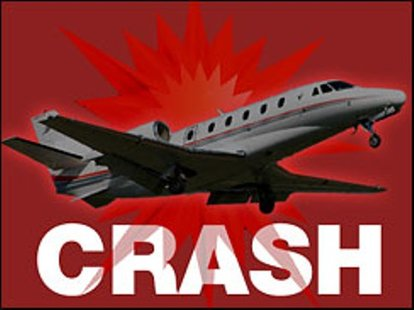 Plane crash gaphic