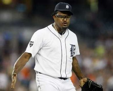 Detroit Tigers reliever Jose Valverde REUTERS/Rebecca Cook