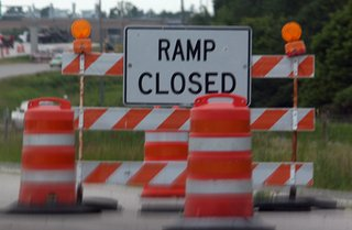 Road Construction - Ramp Closed image Copyright Midwest Communications, Inc. 2014