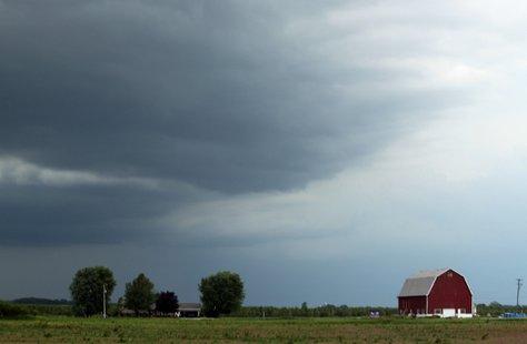 Rain Storm Threatening A Farm