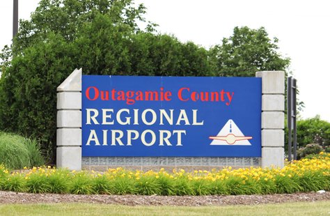 Outagamie County Regional Airport sign