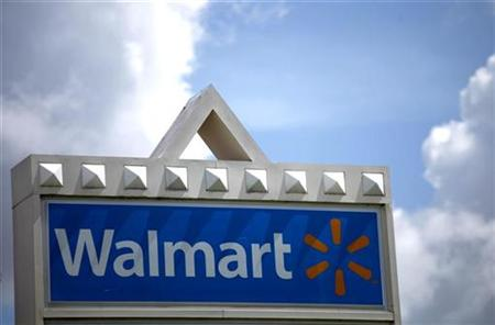 A Wal-Mart sign is seen in Miami, Florida