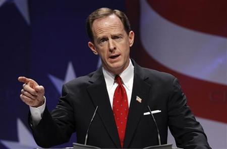 U.S. Senator Toomey speaks to the 38th annual Conservative Political Action Conference meeting at the Marriott Wardman Park Hotel in Washing