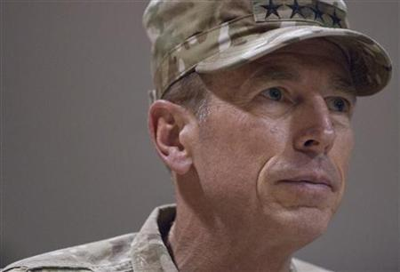 U.S. Army Gen. David H. Petraeus delivers remarks at Kandahar Airfield