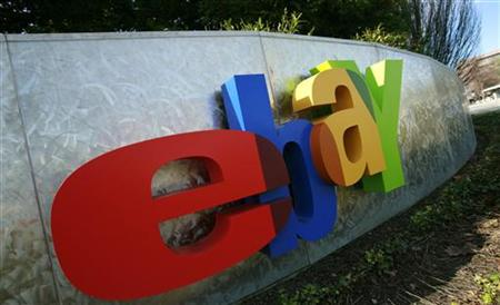 Sign shown at headquarters for eBay in San Jose