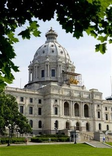 The Minnesota State Capital is seen in Saint Paul