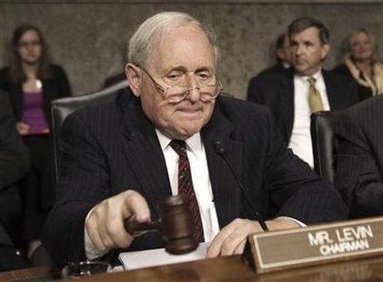 Sen. Carl Levin opens a nomination hearing on Capitol Hill