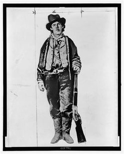 Billy the Kid is pictured in an undated handout photograph