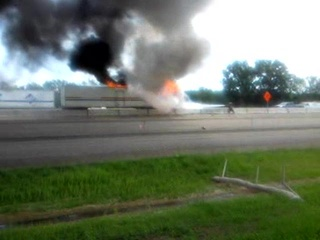 Semi Truck Fire in Winnebago County on Tuesday July 19, 2011 (courtesy of FOX 11).