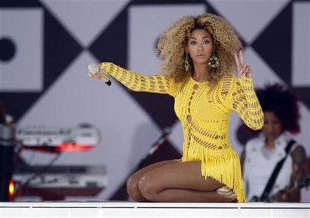 Beyonce performs in Central Park during ABC's 'Good Morning America' in New York