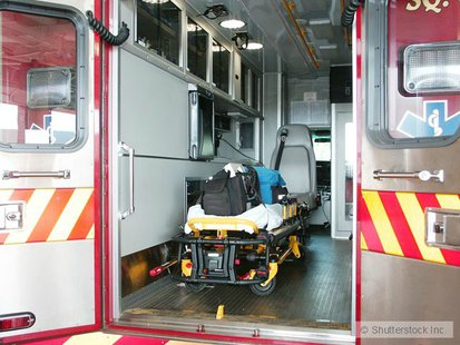 Inside an ambulance copyright Shutterstock, Inc.
