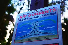 rip current sign