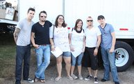 Backstage at Fond Du Lac Fair with Theory of a Deadman 15