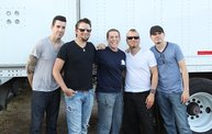 Backstage at Fond Du Lac Fair with Theory of a Deadman 6