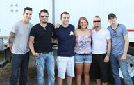 Backstage at Fond Du Lac Fair with Theory of a Deadman 5