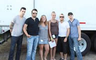 Backstage at Fond Du Lac Fair with Theory of a Deadman 4