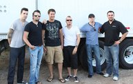 Backstage at Fond Du Lac Fair with Theory of a Deadman 3