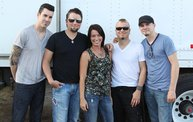 Backstage at Fond Du Lac Fair with Theory of a Deadman 2