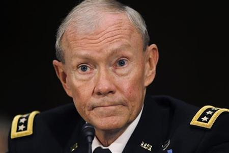 US Army General Dempsey appears at his confirmation hearing on Capitol Hill in Washington