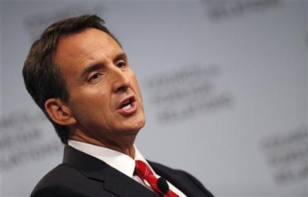 Former Minnesota Governor and candidate for the 2012 Republican Presidential Nomination Tim Pawlenty speaks at Council on Foreign Relations