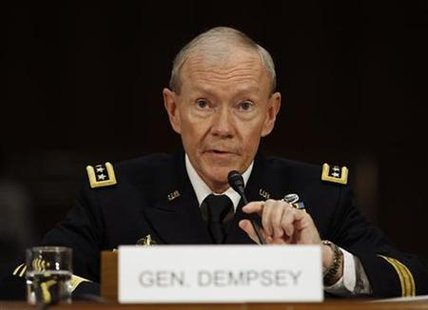 U.S. Army General Martin Dempsey appears at his nomination hearing for the position of Chairman of the Joint Chiefs of Staff, on Capitol Hil