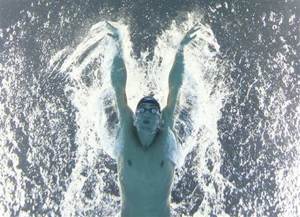 Phelps of the U.S. competes in the men's 200m butterfly final at the 14th FINA World Championships in Shanghai
