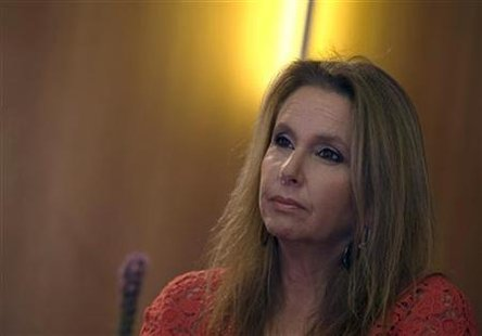 Shari Arison is pictured during an interview in Jerusalem