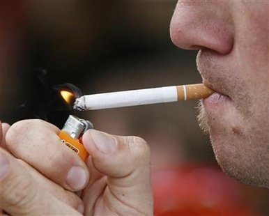Cigarette smoking (Reuters)
