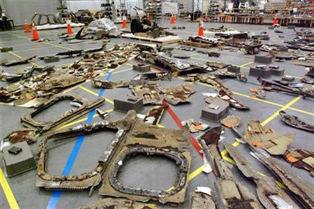 PIECES OF SPACE SHUTTLE COLUMBIA IDENTIFIED.