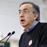 Sergio Marchionne speaks during a news conference at the Chrysler Casting Plant in Etobicoke