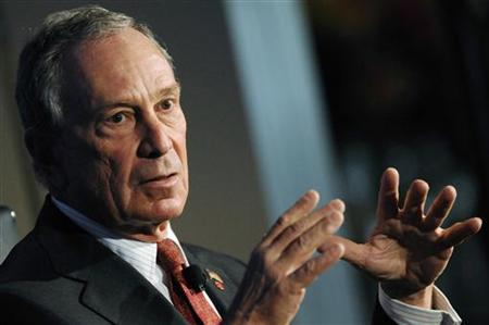 Bloomberg gestures as he speaks during the 2010 meeting of the Wall Street Journal CEO Council in Washington