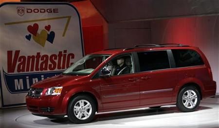 The 2008 Dodge Grand Caravan is unveiled during the 2007 North American International Auto Show in Detroit, Michigan