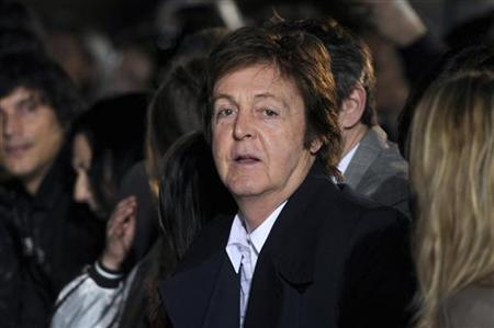Singer Paul McCartney attends the fashion show designed by his daughter Stella McCartney at her Fall-Winter 2011/2012 women's collection dur