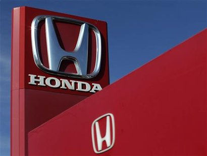 File photo of a Honda logo seen on the forecourt of a car dealer in Brighton