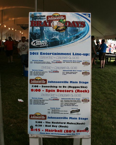 It's a celebration of sausage, and Brat Days 2011 did NOT disappoint. From the 4 stages of entertainment, to the midway games, rides, and family area, to the brat eating competition and the headlining Spin Doctors on the main stage!  Not to mention the amazing brats and brat filled food! We can't wait for Brat Days 2012 with the Sheboygan Jaycees, Johnsonville, and Sheboygan's Point!