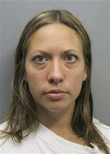 The booking photo of Lee Grace Dougherty, 29, provided by the Pueblo County Colorado Sheriff's Office