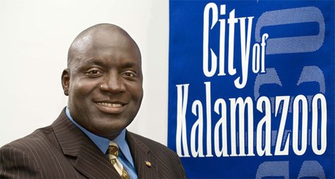 Kalamazoo Mayor Bobby Hopewell in a stock image.