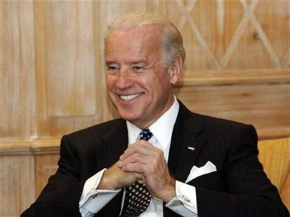 US Vice President Biden smiles during the 45th Conference on Security Policy in Munich