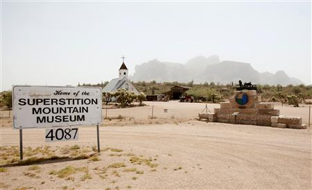 The Superstition Mountain Museum is seen close to the last known address for David Spargo and his company Asseterra in Apache Junction, Ariz
