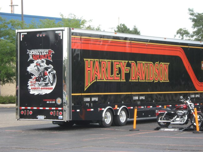 Q106 invaded Battle Creek Harley Davidson for their August Open House, thanks for stopping by, Rock On!